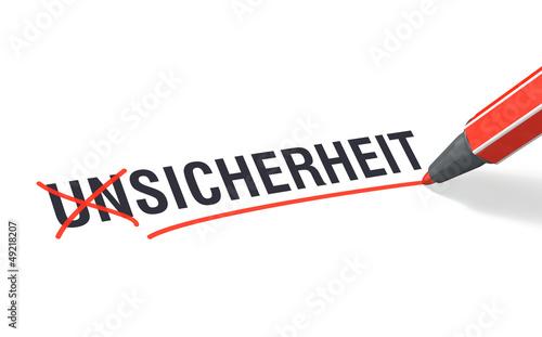 Stift- & Schriftserie: SICHERHEIT statt UNSICHERHEIT