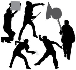 Rioter Silhouette