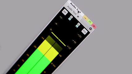 Digital equalizer in film editing soft.