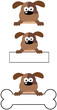 Dog Head Cartoon Mascot Characters- Collection