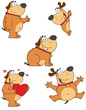 Different Fat Dogs Cartoon Mascot Characters- Collection