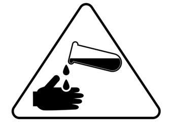 Attention - danger acid sign