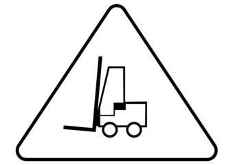 Attention - danger forklift trucks sign
