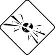 Warning symbol explosion