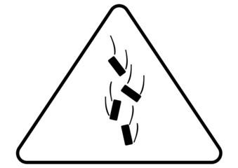 Attention - danger falling objects