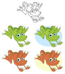Frog Hopping. Collection