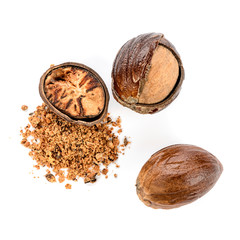 Nutmeg - whole and powdered