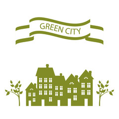 vector green city