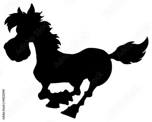 Silhouette Of Horse Running