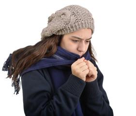 Shivering Teenager