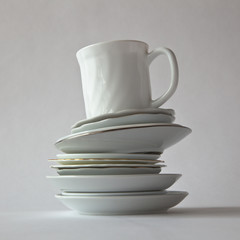 Cup On Several Saucers