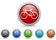 bicycle vector icon set