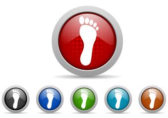 footprint vector icon set