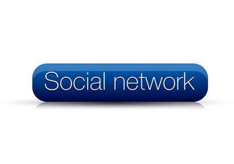 Social network button blue