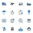 Logistics Icons - Blue Series