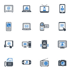 Electronics Icons - Blue Series
