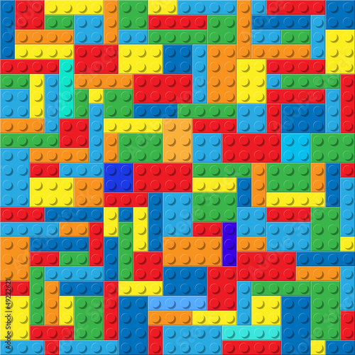 Child plastic constructor colorful vector background - 49222621