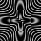Black and white hypnotic vector background