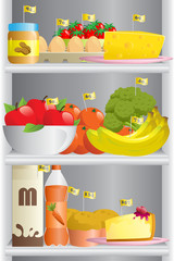 Food in refrigerator