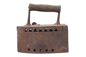 Old rusty iron isolated on white background