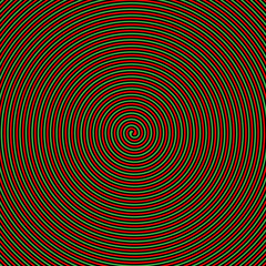 Green and red hypnotic vector background