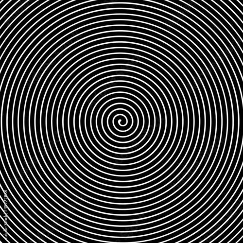 Fototapeta Black and white hypnotic vector background