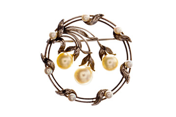 Victorian pearl broach.