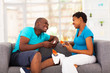 african american couple expecting new baby