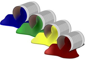 barattolo di colore