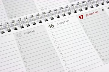 Terminkalender, Date calendar, blanko