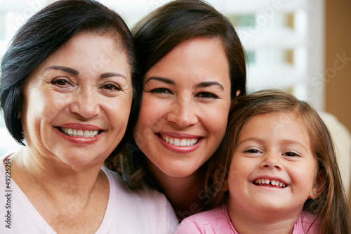 Female Members Of Multi Generation Family At Home