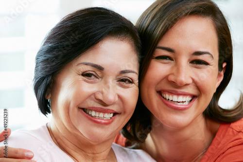 Portrait Of Adult Daughter With Mother At Home