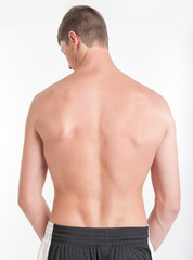 Male torso, back view