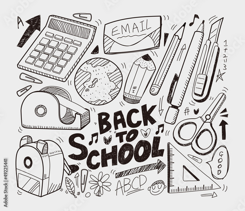 School - doodles collection