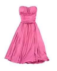 Pink evase strapless dress