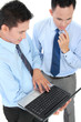 businessman meeting using laptop