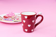 Valentine cookies with coffee cup