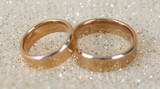 Wedding rings on bright background - 49228290