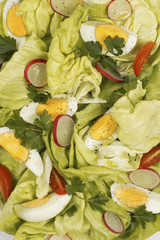 Spring salad with boiled eggs