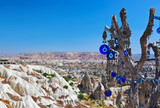 Tree and evil eye amulet in Cappadocia Turkey