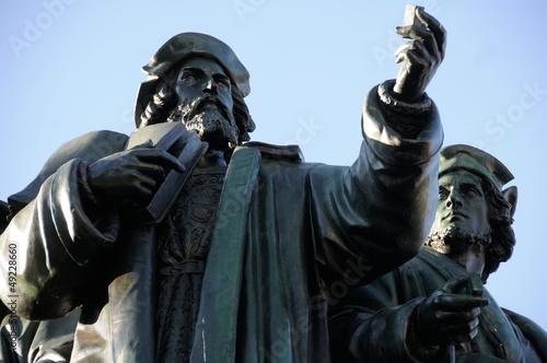 Leinwanddruck Bild Johannes Gutenberg Denkmal