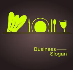 logo restaurant vert design