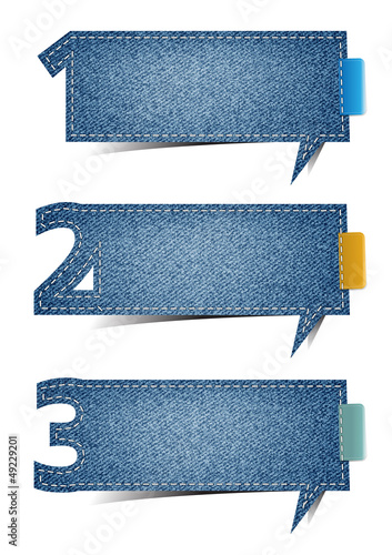 Presentations Jeans texture background, with letters numbers