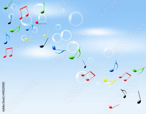 シャボン玉と音楽