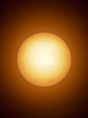 The Sun as seen through a telescope.