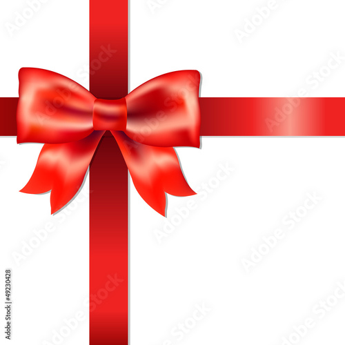 Red Bow With Ribbon