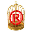 Birdcage with Trademark symbol inside