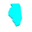 Illinois 3d map