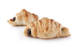 Small chocolate croissants
