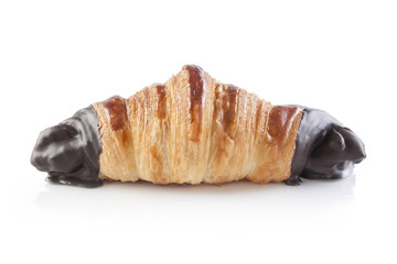 Chocolate croissant isolated